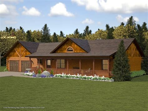 ranch log home floor plans ranch log home plans