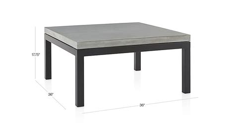 parsons coffee table crate and barrel parsons square coffee table with concrete top crate and