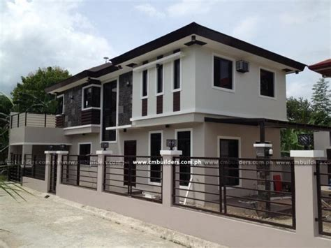 exterior house paint colors in the philippines modern zen 2 storey cm builders