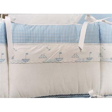 sailboat crib bedding embroidered sailboats crib bedding by blauen blauen crib