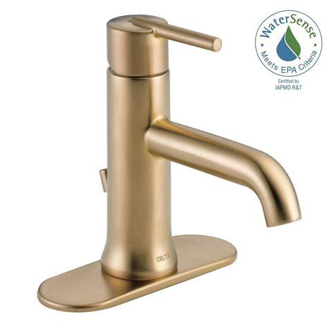 delta bathroom shower faucets delta trinsic single single handle bathroom faucet