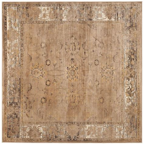 6 square area rug safavieh vintage taupe 6 ft x 6 ft square area rug