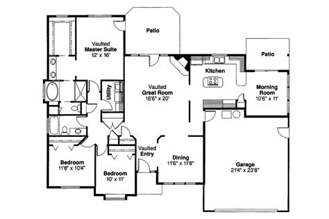 traditional floor plans traditional house plans cottonwood 30 151 associated designs