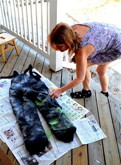spray painting for clothes black ski bibs i think not or spray painting is