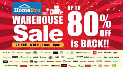 warehouse sales homepro warehouse sale puchong home furniture