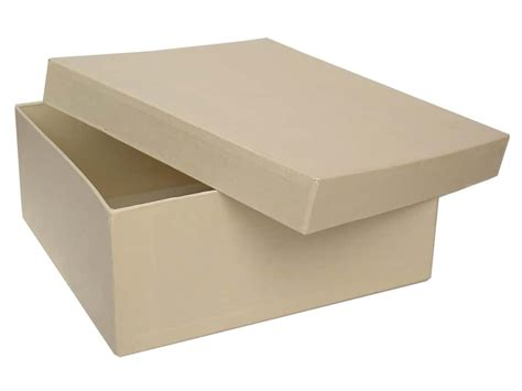 paper mache craft boxes paper mache square box 7 1 2 in vanilla by craft pedlars