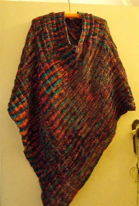 free knit poncho patterns cowl neck poncho by knitting pattern