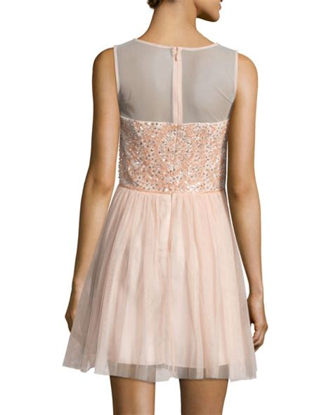 beaded blush dress aidan mattox beaded dress blush