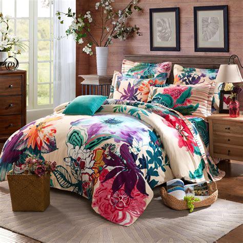 king size floral comforter sets size 100 cotton bohemian boho style floral