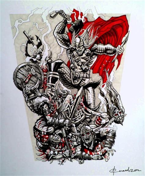 thor tattoo design by loganninefingers on deviantart