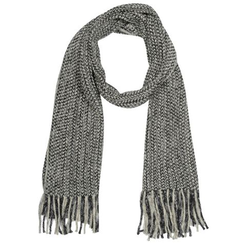 mens knit scarf s cable knit scarf black clothing thehut