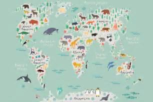 Custom Wall Mural safari kids map mural wallpaper muralswallpaper co uk