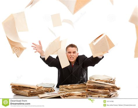 work with paper throwing away paperwork stock image image 16114185