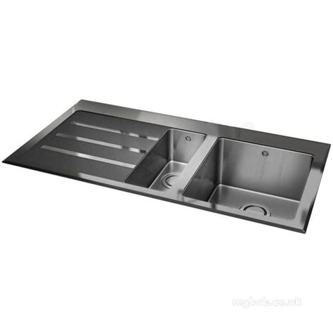 glass sinks for kitchens silhouette black glass kitchen sink with 1 5 bowl and left