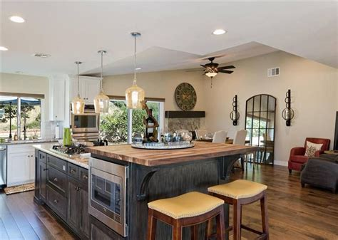 butcher block kitchen island breakfast bar 37 gorgeous kitchen islands with breakfast bars pictures designing idea