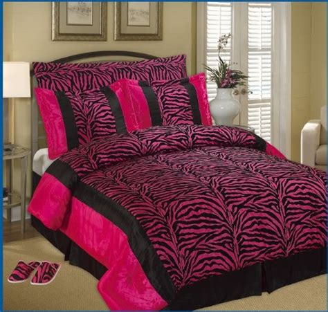 pink and zebra comforter set best king faux silk and flocking printing black pink