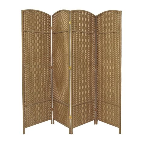 privacy screens room dividers shop furniture weave 4 panel wood