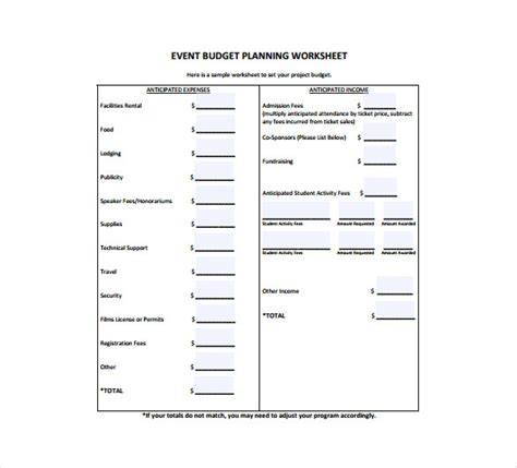 11 event planning templates free sample example