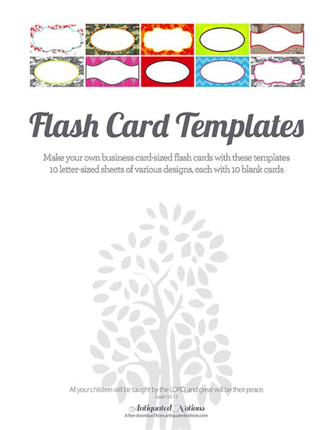 make flash cards free colorful flash card templates antiquated notions