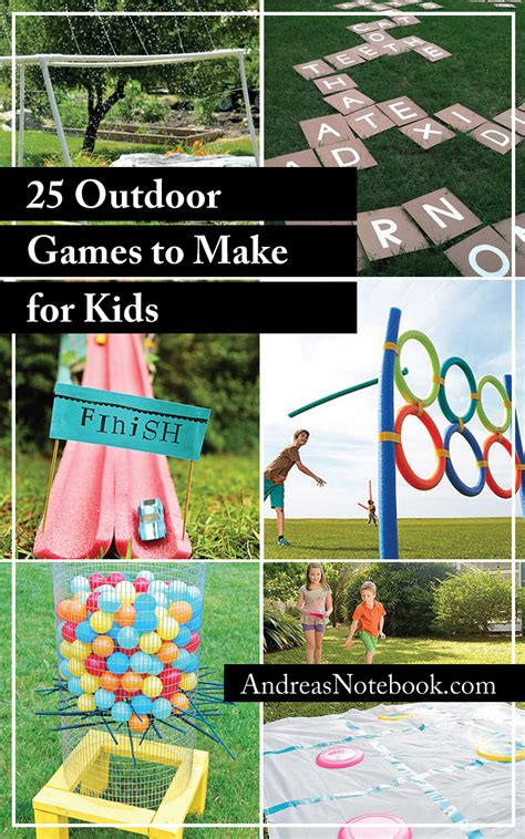 for kindergarteners to make 25 outdoor for