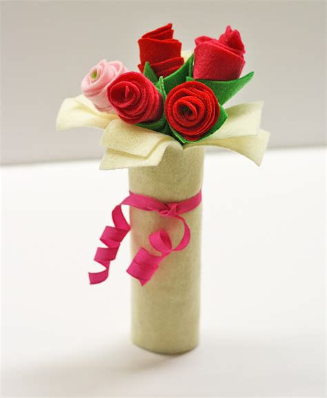 crafts for for cardboard bouquet of felt roses 183 kix cereal