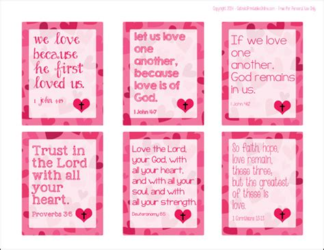 for valentines printable religious cards for