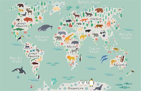 Childrens Car Wallpaper Uk by Safari Map Mural Wallpaper Muralswallpaper Co Uk