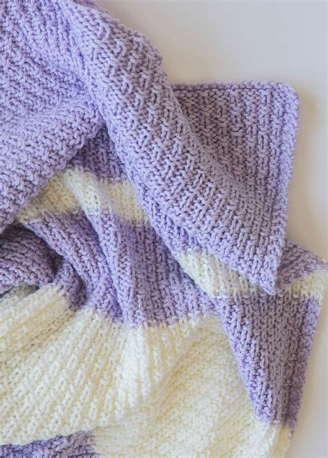 purl yarn knit this easy knit baby blanket pattern is and also
