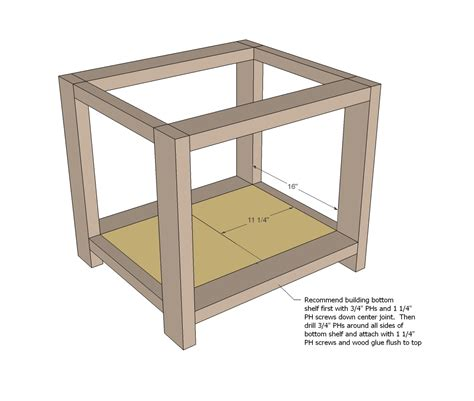 woodworking plan rustic end table woodworking plans woodshop plans