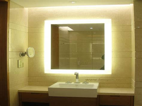 backlit bathroom mirrors illuminated vanity mirror backlit vanity mirror lighted