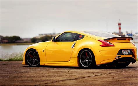 Yellow Car Wallpaper Hd by Nissan 370z Yellow Car Side View Wallpaper Cars