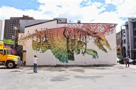 canadian painting festival diaz new mural montreal canada streetartnews