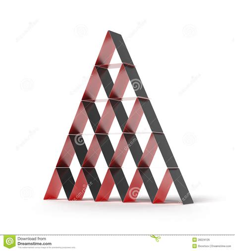 how to make a card pyramid pyramid house of cards royalty free stock image image