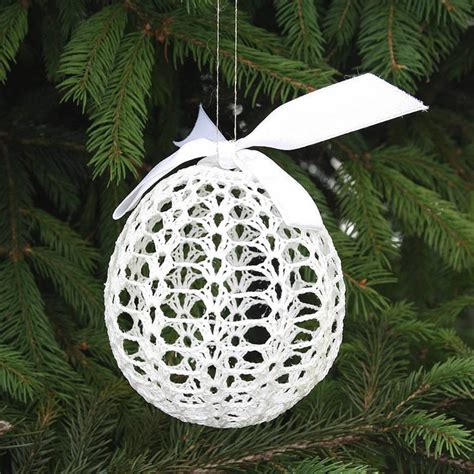 crochet tree ornament crocheted tree ornaments