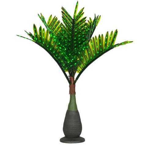 outdoor lighted palm trees lighted palm trees 7 5 led bottle palm tree green