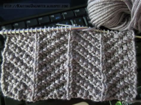 make 1 in knitting stitch patterns using knit purl combinations knitting