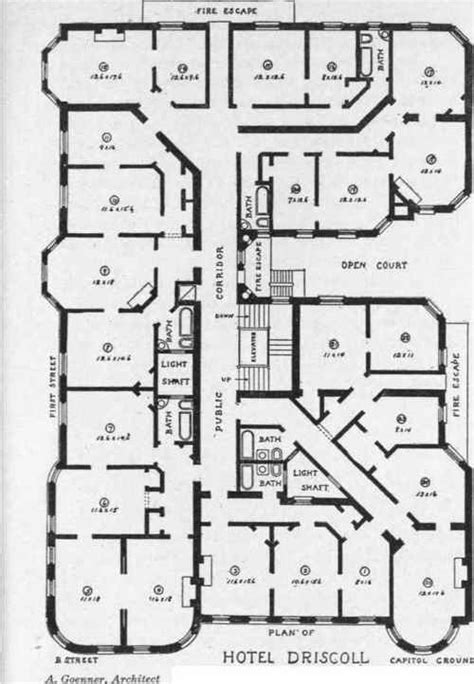 floor plans of hotels planning the plumbing for hotel buildings