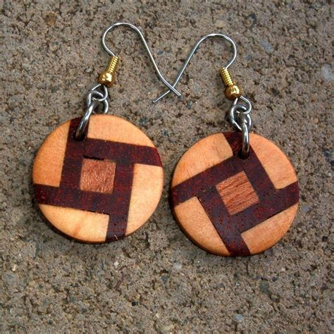 wood for jewelry custom wood earrings of poplar mahogany and rosewood