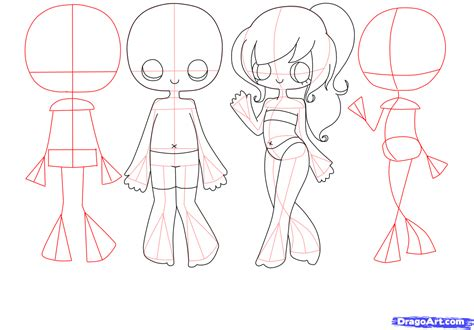 how to draw bodies step 4 how to draw chibi bodies