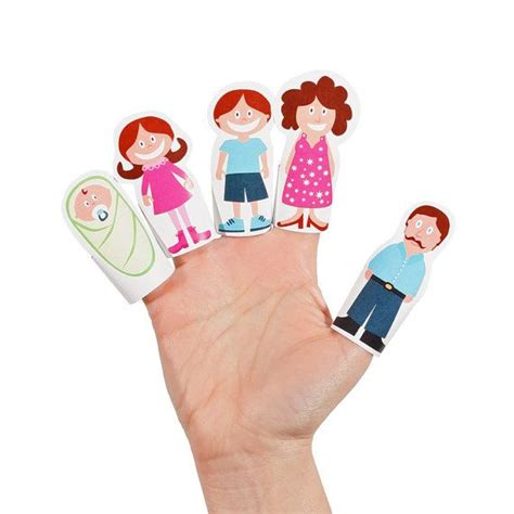 family craft for finger family paper finger puppets printable pdf