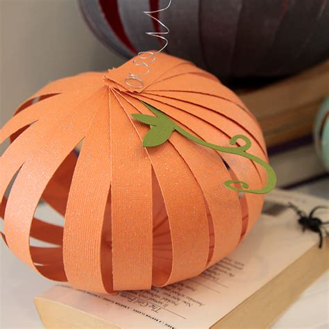 paper pumpkin craft easy patterned paper pumpkins can do it it s