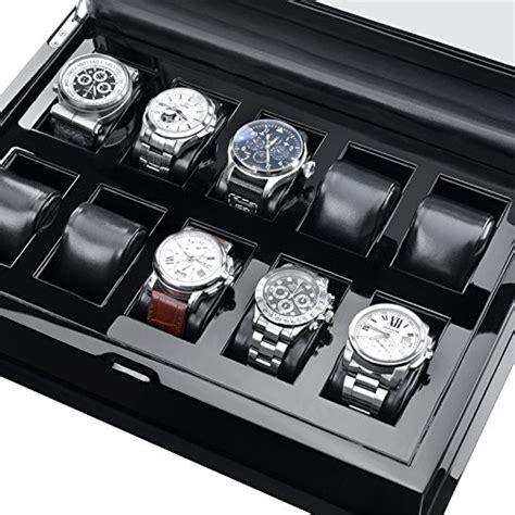 hermann j 228 ckle j10b s villingen coffret de rangement pour 10 montres noir