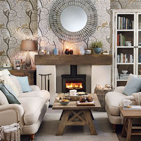 Livingroom Themes cosy woodland theme living room decorating ideal home