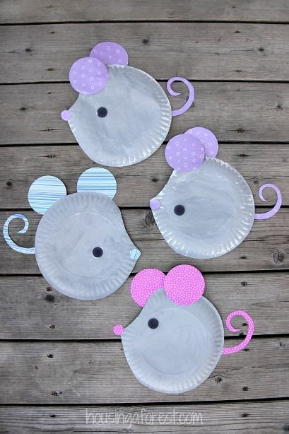 easy paper plate crafts for paper plate mouse easy craft diy craft s mydiddl