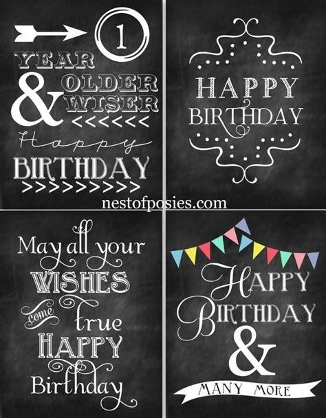 diy chalkboard typography 25 unique happy birthday chalkboard ideas on