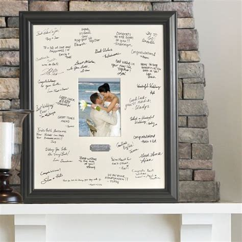 wedding guest book picture frame personalized engraved signature picture frame 5x7 photo