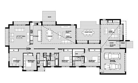 Split Bedroom Floor Plans passive solar house designs australia house design ideas