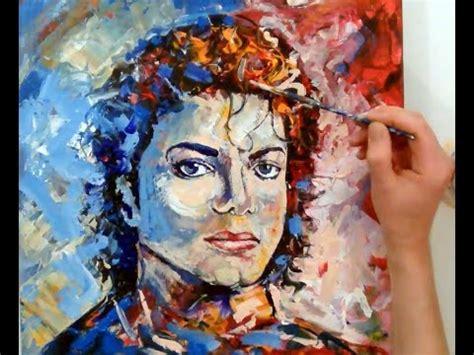 acrylic paint jackson painting michael jackson