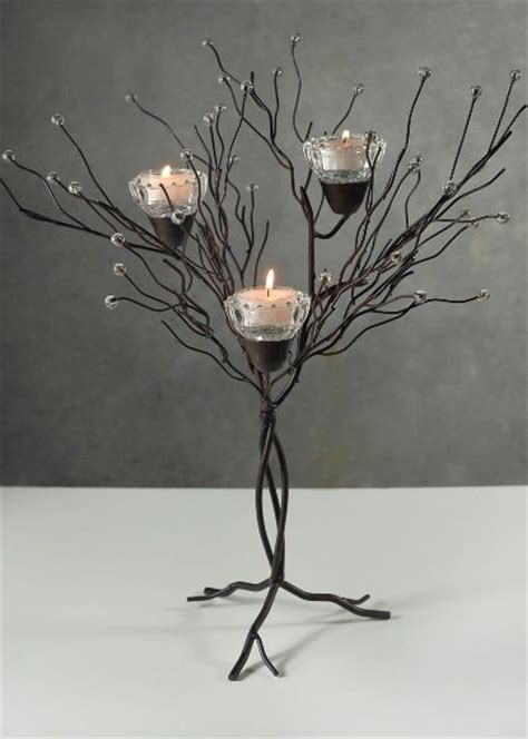 metal twig tree candle holder centerpiece 16 quot tabletop metal twig tree candle holder
