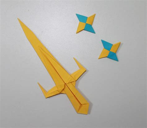 paper shuriken origami sword 2 origami sai and shuriken